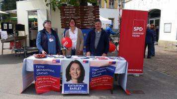 Europawahlkampf mit Birgit Heckmair, Kathrin Bäuerle und Michael Menz